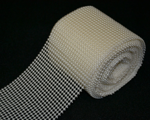 4 25 Quot X 10 Yards 30 Ft Ivory Pearl Mesh Wrap Roll Cb