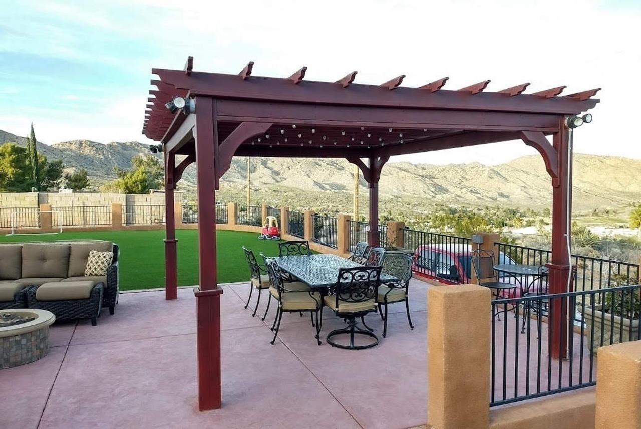 12x14 Serenity Pergola Kit / Western Red Cedar #1 Grade / Yucca Valley, CA