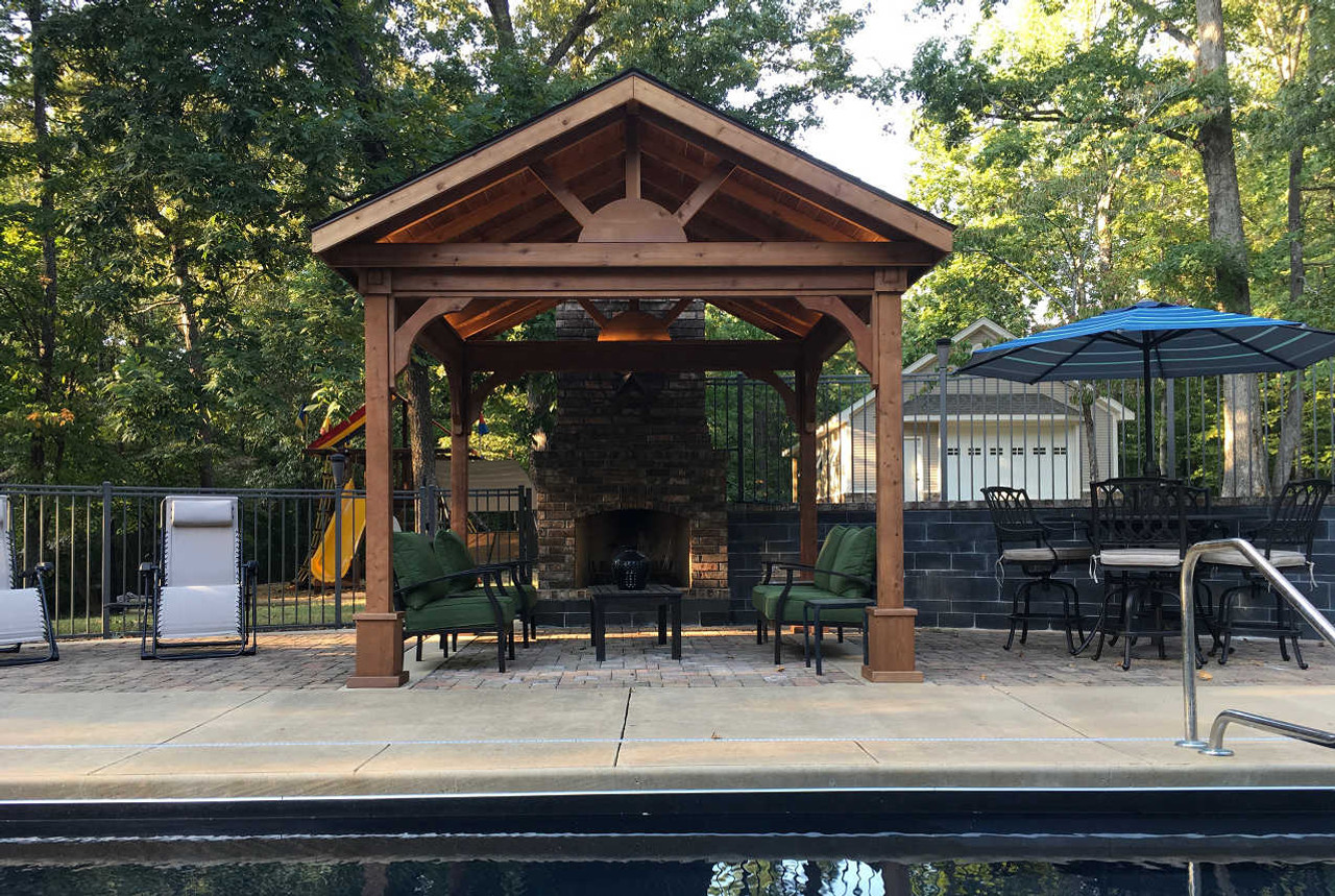Red Cedar Patio Cover Kits Cedar Pavilion Kits Pre Made