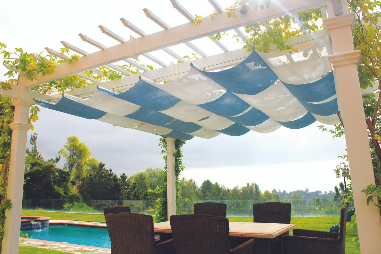 Infinity Retractable Pergola Canopy Kit Navy Black