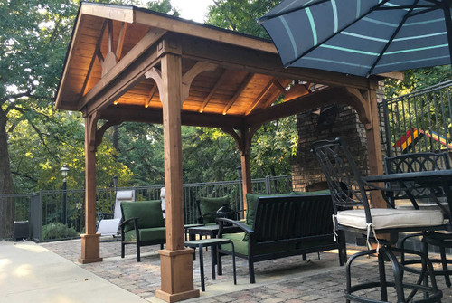 detached patio covers. Red Cedar Gabled Roof Pavilion. $5,700. 12x16 Patio Cover Detached Patio Covers