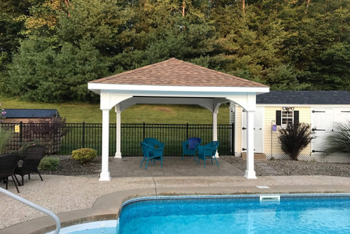 Premium Vinyl Pavilion - Traditional Roof