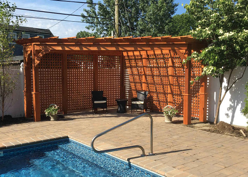 Cedar Pergola Kits With And Without Canopies All Sizes