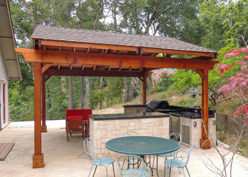 Superieur Covered Pergola Over An Outdoor Kitchen.