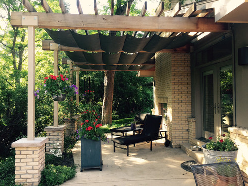 Infinity Retractable Pergola Canopy Kit Navy Black