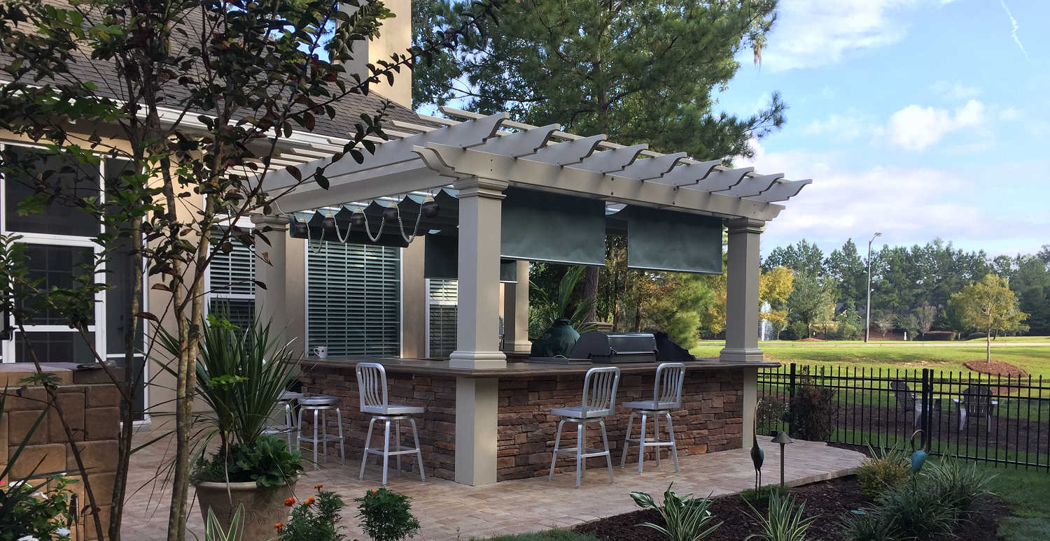Attirant Pergola Kits + Retractable Canopy