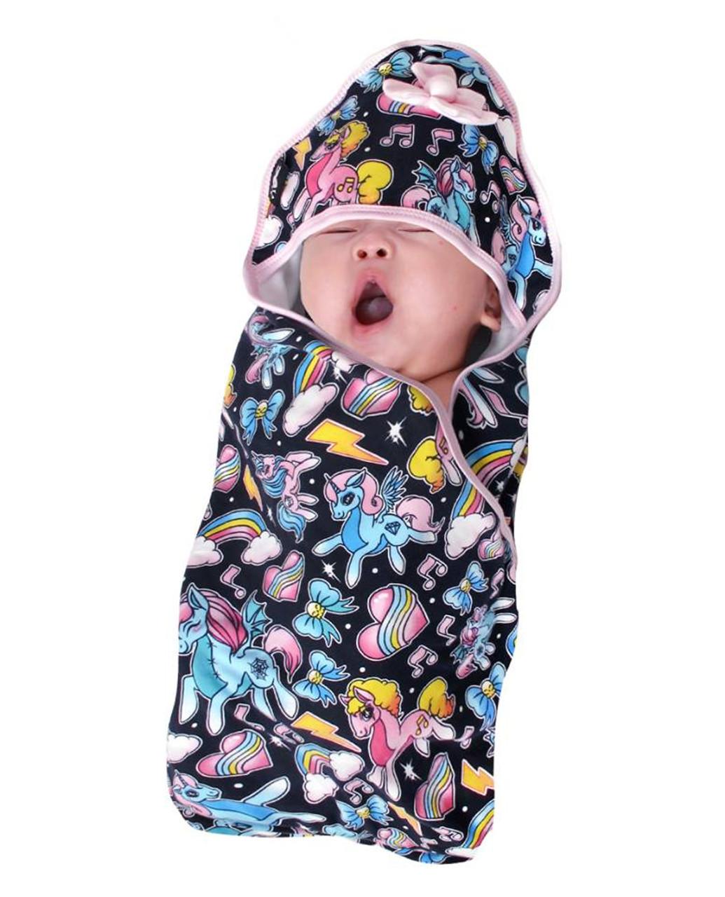 Six Bunnies Unicorns Baby Wrap Blanket Hooded Towel Wrap