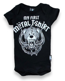 Six Bunnies First Metal Tshirt Onesie