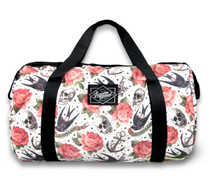 Liquorbrand Rose Tattoo and Skull duffle gym bag