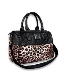 Liquorbrand Leopard Plush Round Bag