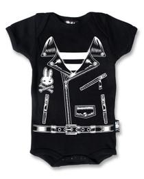 Six Bunnies Rocker Jacket Baby Onesie