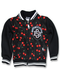 Six Bunnies Cherries Varsity Jacket