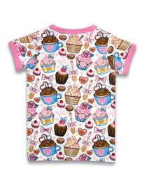 Six Bunnies Cupcakes Tee Shirt - back