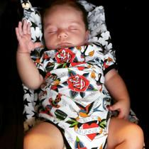 Six Bunnies Tattoo Shoppe Baby Onesie - baby