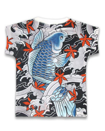 Six Bunnies Koi Kids Tee Shirt- back