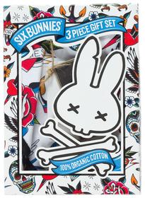 Six Bunnies tattoo shoppe Onesie, Bib and Beanie - box