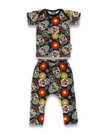 Six Bunnies Sugar Skulls Baby Pyjama Set