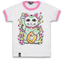 Six Bunnies Maneki Neko Tee Shirt