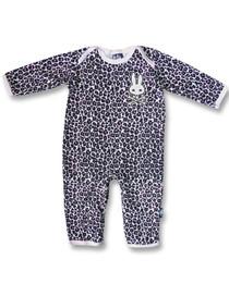 Six Bunnies Leopard Print Baby Romper - Pink