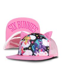 Six Bunnies Pegasus Cap - Pink