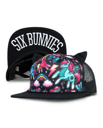 Six Bunnies Unicorns Cap