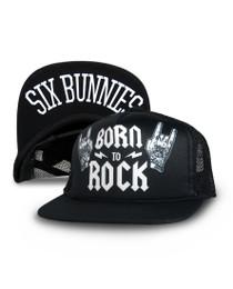 Six Bunnies Born to Rock Cap