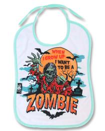Six Bunnies Zombie Baby Bib