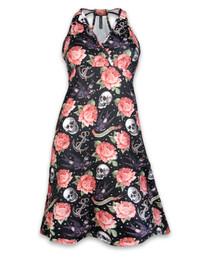 Liquorbrand Rose Tattoo Monroe Halter Dress