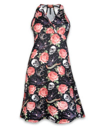 Liquorbrand Womens Rose Tattoo Dress - Monroe