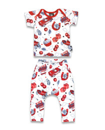 Six Bunnies Hotrod Cherry Pyjama Set