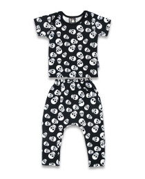 Six Bunnies Polka Skulls Pyjama Set