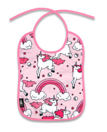 Six Bunnies Rainbow Unicorns Baby Bib