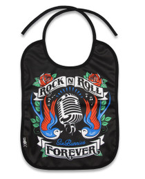 Six Bunnies Rock n Roll Baby Bib