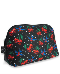 Liquorbrand Cherry Skulls Cosmetic Wallet Bag