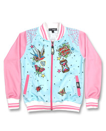 Six Bunnies True Love Girls Tattoo Rockabilly Jacket