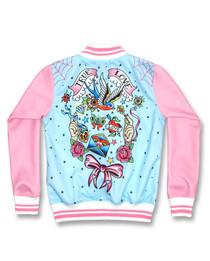 Six Bunnies True Love Girls Tattoo Rockabilly Jacket - back