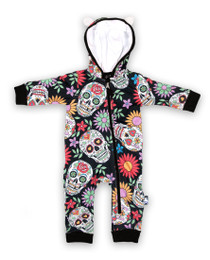 Six Bunnies Sugar Skull Hooded Romper