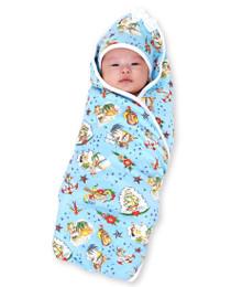 Six Bunnies Aloha Sailor Tattoo Baby Wrap Blanket