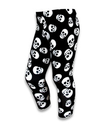 Six Bunnies Polka Skulls Kids Leggings