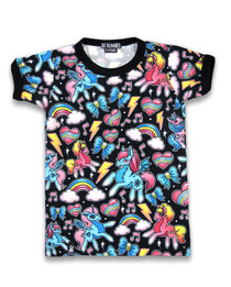 Six Bunnies Unicorns Tee Shirt