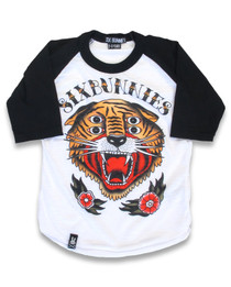 Six Bunnies 4 Eyes Tiger Raglan Top