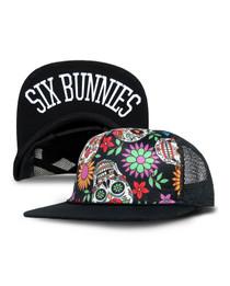 Six Bunnies Sugar Skulls Kids Trucker Cap