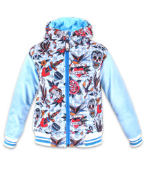 Six Bunnies Tattoo Shoppe Kids Hooded Jacket