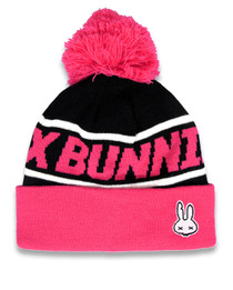 Six Bunnies Pink Skull Kids Beanie