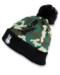 Six Bunnies Camouflage Skull Kids Beanie - left