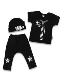 Six Bunnies Lil Punk 3 pcs Gift Set - Tee, Pants & Beanie