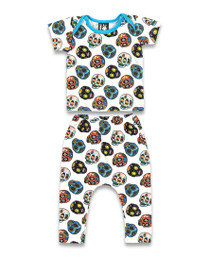 Six Bunnies Sugar Skull Baby Pyjamas