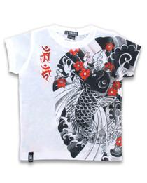 Six Bunnies Lucky Koi Kids Asian Tee Shirt Top
