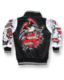 Six Bunnies Tattoo Kids Varsity Jacket