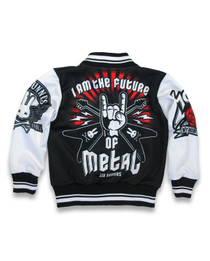 Six Bunnies Metal Fan Varsity Jacket